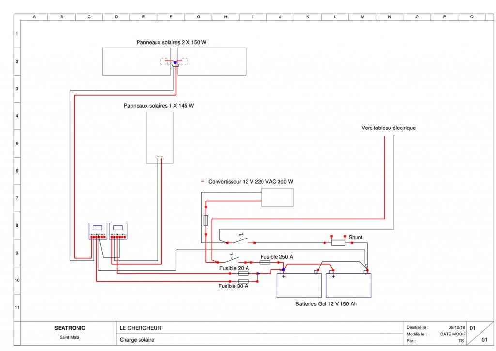schéma électrique le chercheur